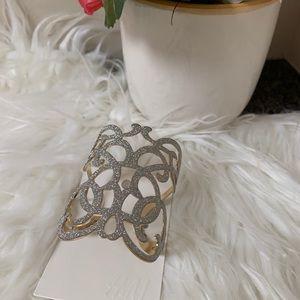 Glitter cuff bracelet